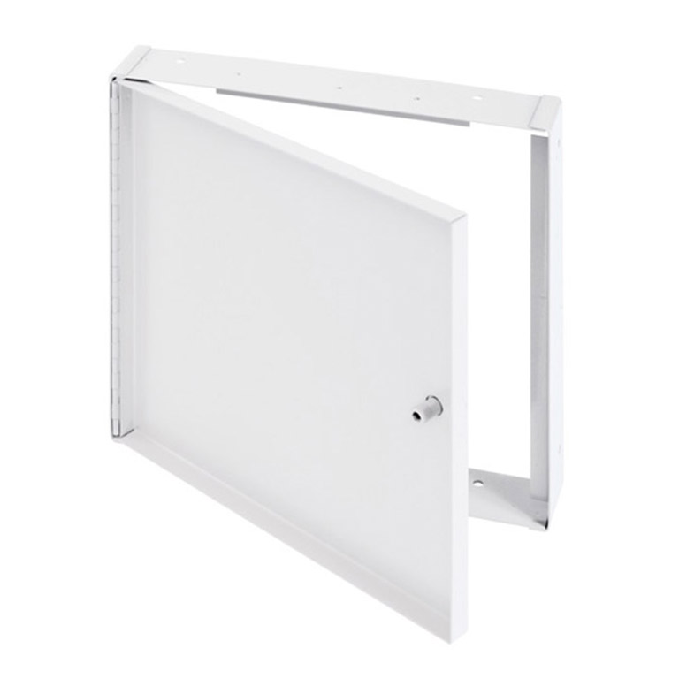 Recessed Access Door without Flange, allen hex head operated cam latch, piano hinge