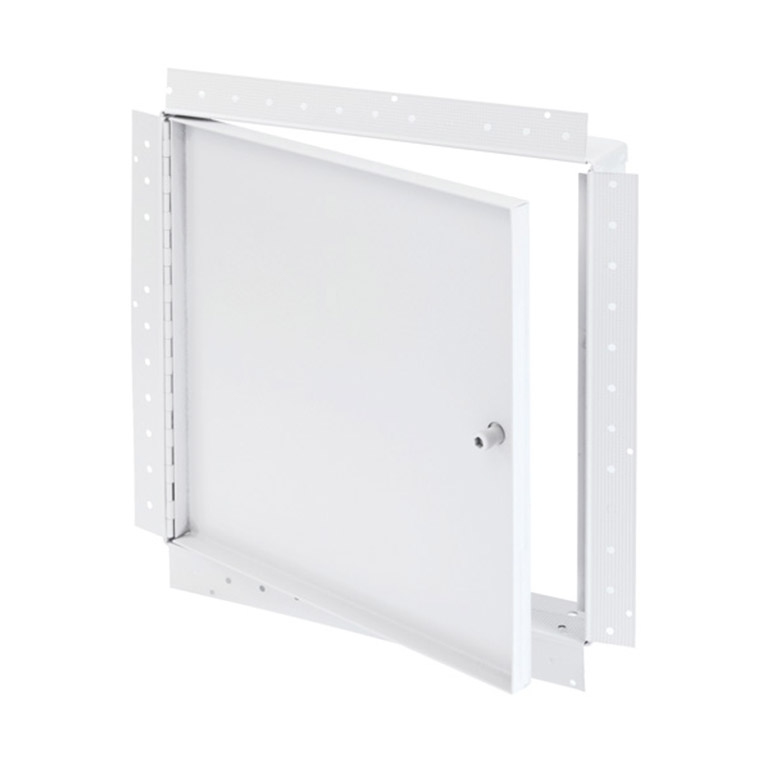 Recessed Access Door with Drywall Bead Flange, allen hex head operated cam latch, piano hinge