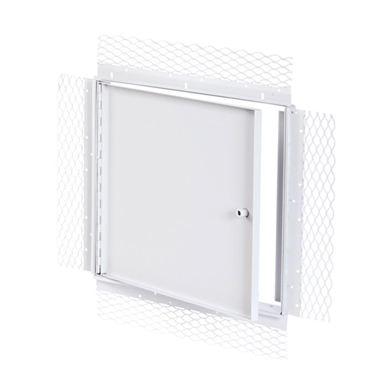 Recessed Access Door with Plaster Bead Flange, allen hex head operated cam latch, piano hinge