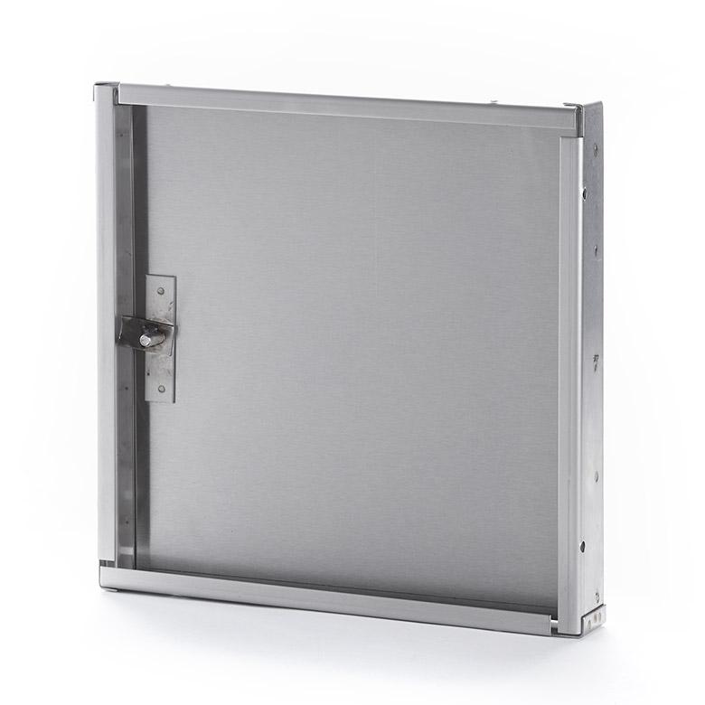Panneau d'accès en acier inoxydable avec retrait sans cadre extérieur, clé allen à tête hexagonale, penture piano