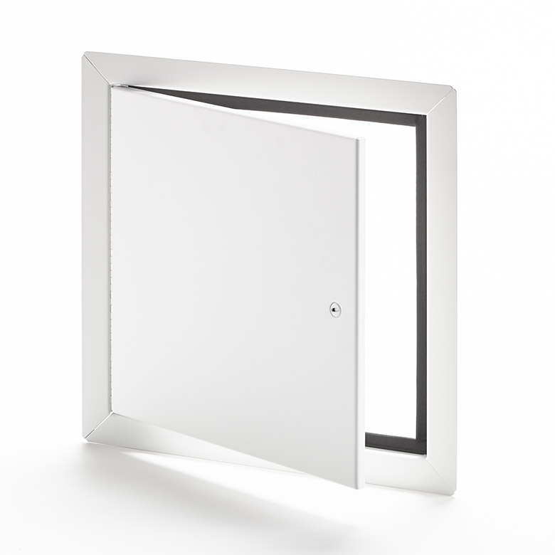 Flush Universal Access Door with Exposed Flange, screwdriver operated cam latch, piano hinge, gasket