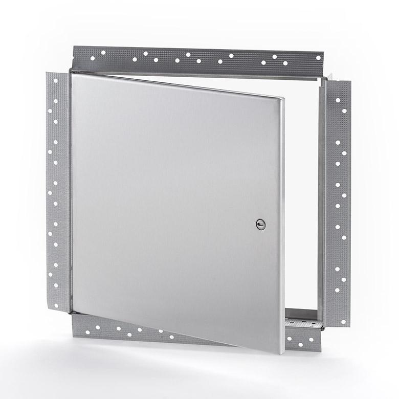 Panneau d'accès en acier inoxydable avec cadre perforé pour gypse, loquet à tournevis, penture de type goupille