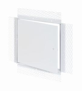 Panneau d'accès avec cadre treillis pour plâtre, loquet à tournevis, penture de type goupille