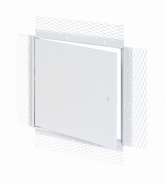 Flush Access Door with Plaster Bead Flange, screwdriver operated cam latch, pin hinge
