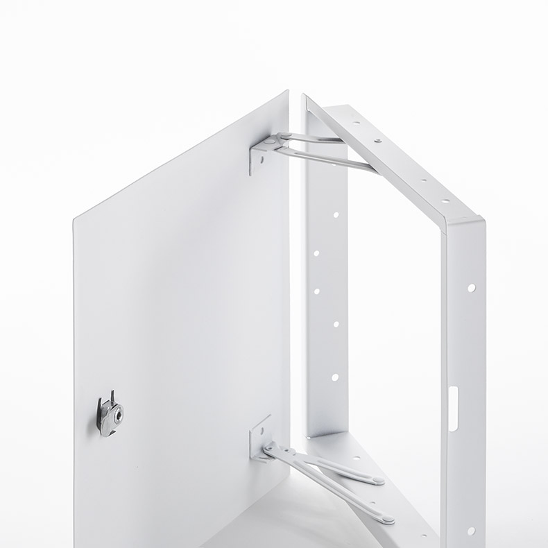Flush Universal Access Door with Hidden Flange, key operated cylinder cam latch, pantograph hinge