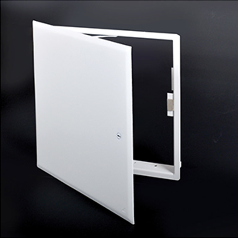 CONTOUR - Flush Universal Access Door with Magnetic Closing, screwdriver operated cam latch, pantograph hinge, holding cable