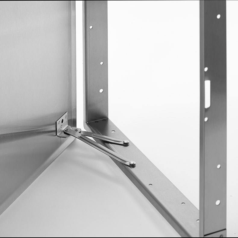 Flush Universal Stainless Steel Access Door with Hidden Flange, screwdriver operated cam latch, pantograph hinge
