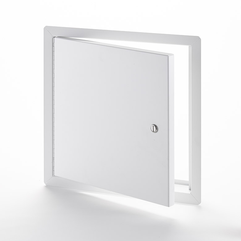 LHD-220- Heavy Duty Access Door for Large Openings with Exposed Flange. Screwdriver-operated cylinder cam latch. Piano hinge.