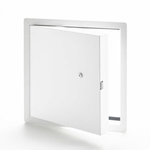 PFI-10-60- Fire-Rated Insulated Access Door with Exposed Flange. Key-operated cylinder cam latch. Piano hinge. Gasket