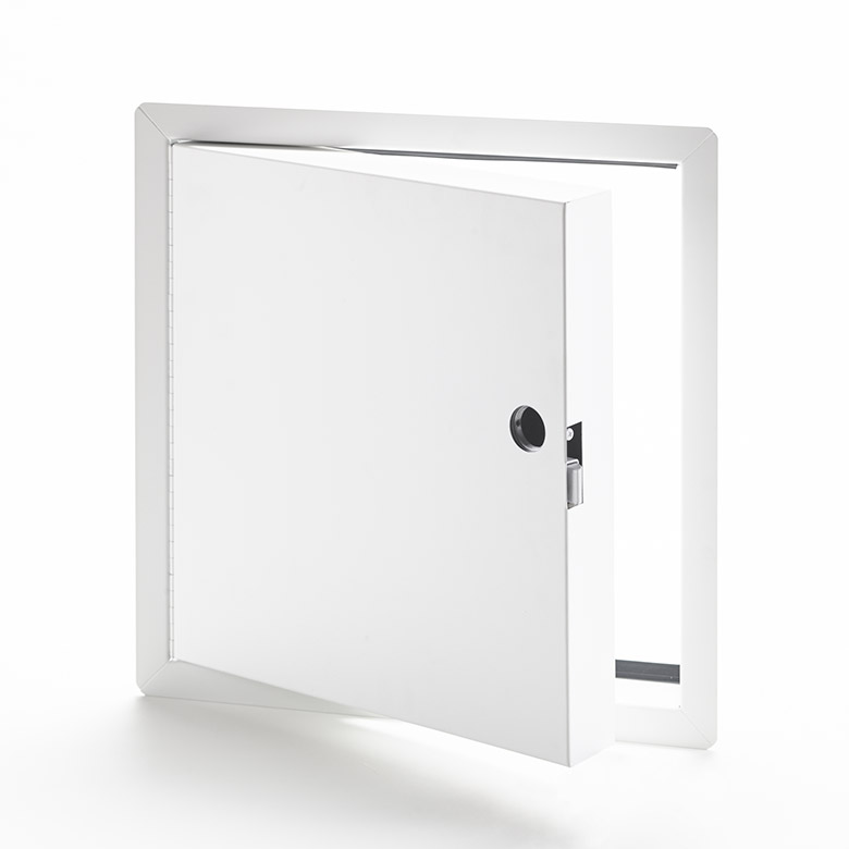 Fire-Rated Insulated Access Door with Exposed Flange, mortise slam latch, piano hinge, gasket