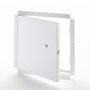 PFN-GYP-10- Fire-Rated Uninsulated Access Door with Drywall Flange. Key-operated cylinder cam latch. Piano hinge