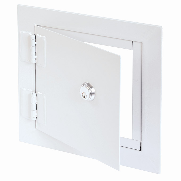 High Security Flush Universel Access Door with Exposed Flange, mortise deadbolt lock, heavy duty butt hinge