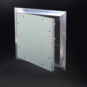 "ALUMI - Recessed ½"" Aluminum Access Door with Hidden Flange, push latch, free pivot hinge"