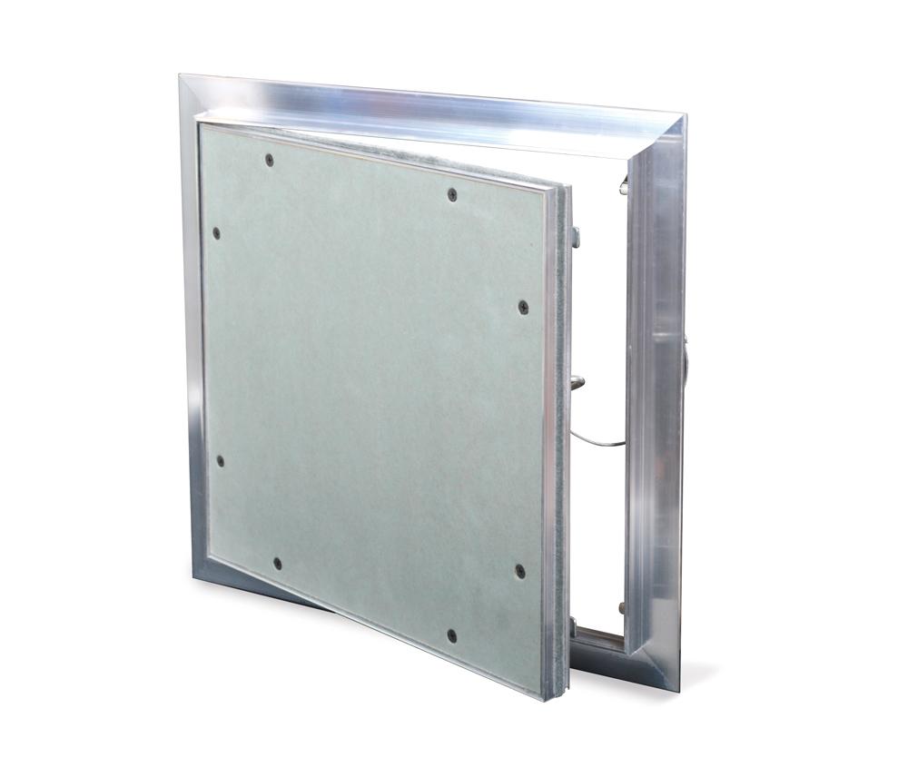 "ALUMI - Recessed 5/8"" Aluminum Access Door with Hidden Flange, push latch, free pivot hinge"