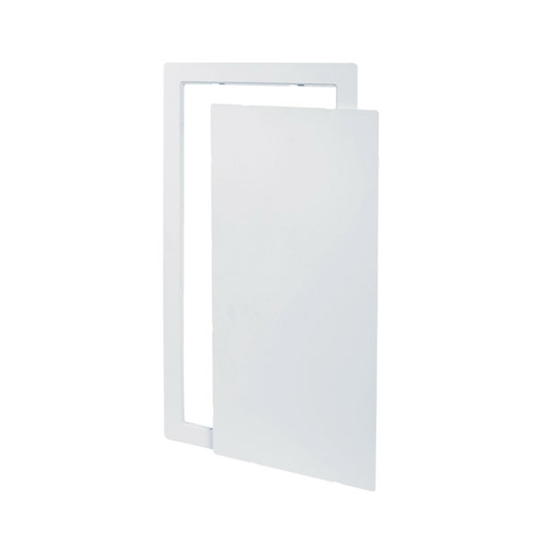 Flush Universal Removable Plastic Access Door with Exposed Flange, snap friction latch