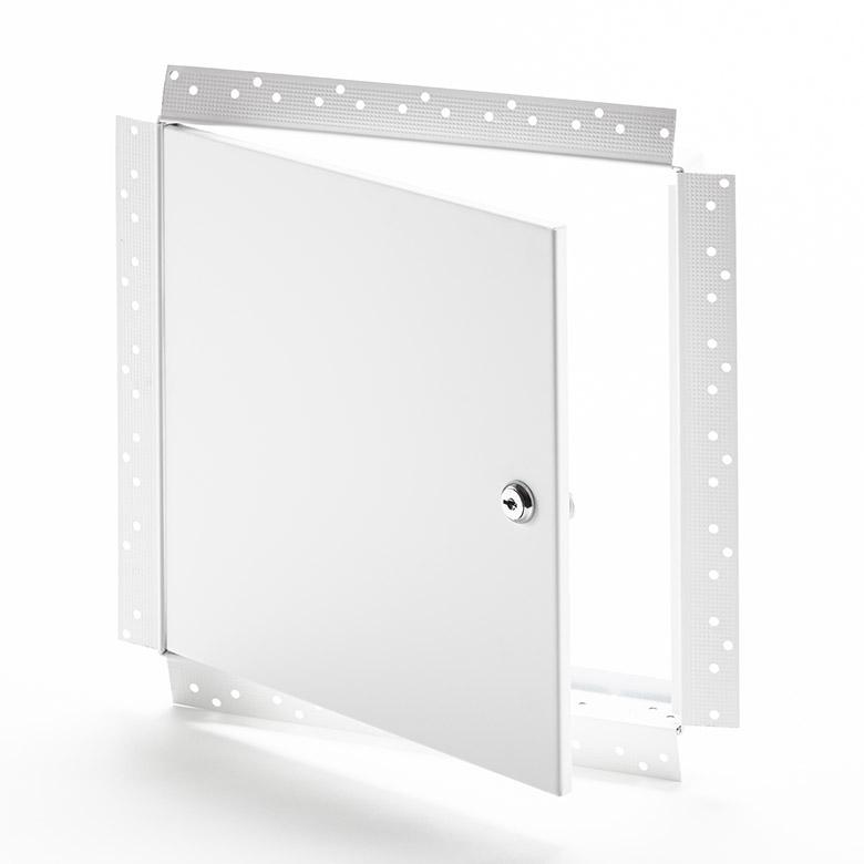 AHD-GYP-10- Panneau d'accès avec cadre perforé pour gypse- barillet à clé, penture de type goupille, apprêt en poudre blanche de haute qualité