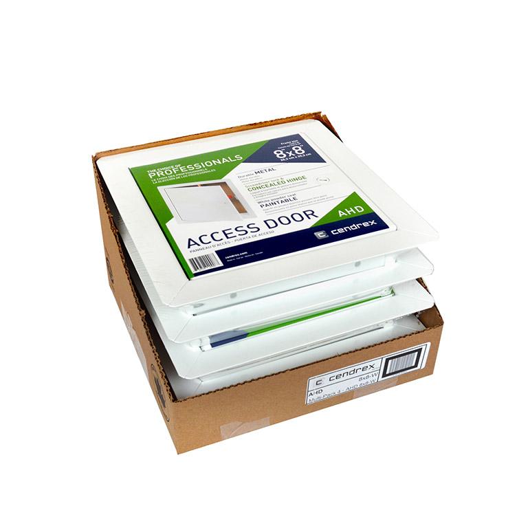 AHD-W- Panneau d'accès à usage universel avec cadre apparent- loquet à tournevis, penture de type goupille, emballage multiple 3