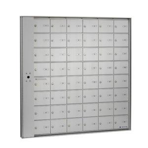HR-1000-LP- Boîte aux lettres horizontale à accès par l'avant, modèle encastré- panneau verrouillage, installer intérieur immeuble, Postes Canada