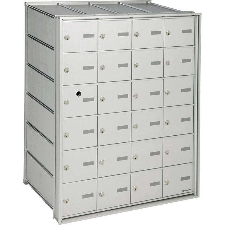HR-2000-00- Boîte aux lettres horizontale à accès par l'avant, modèle encastré- pour le courrier interne, à installer à l'intérieur d'un immeuble