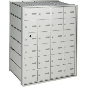 Boîte aux lettres horizontales à accès par l'arrière, pour le courrier interne, à installer à l'intérieur d'un immeuble