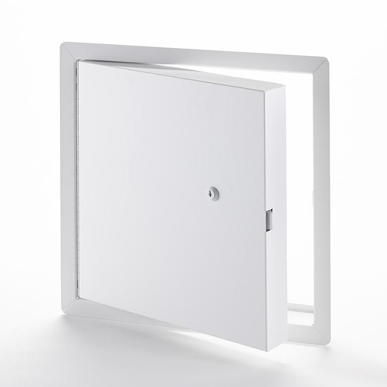 PFI-10- Panneau d'accès isolé en acier satiné, homologué contre le feu avec cadre apparent- barillet à clé, penture piano 3
